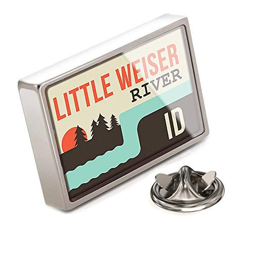 NEONBLOND Lapel Pin USA Rivers Little Weiser River - Idaho