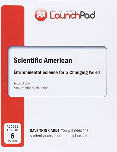 Software : LaunchPad for Scientific American Environmental Science for a Changing World (6 Month Access)