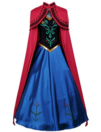 Anna Costumes For Adults (Tinyones Women and Children Costume Princess Cosplay Dress Up (Child S))