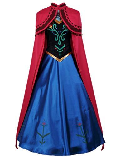 Tinyones Women and Children Costume Princess Cosplay Dress Up (Child S) Blue