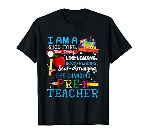 I Am A Shoe-Typing Tear-Drying Pre-K Teacher T Shirt