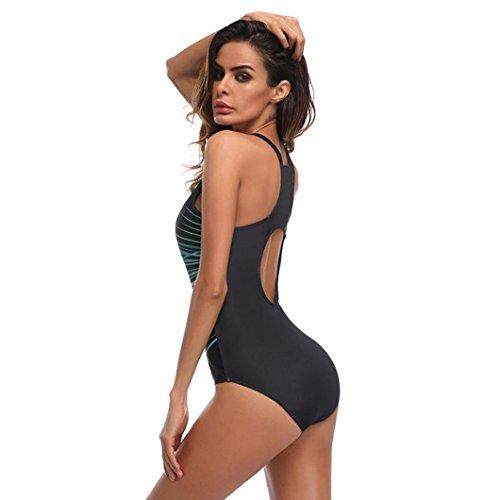 pour ray 3XL taille de Maillot Bikini femme pièce bain Push rembourré une Line Grande Plage Monokini Up Vert L Honestyi qCIw8U