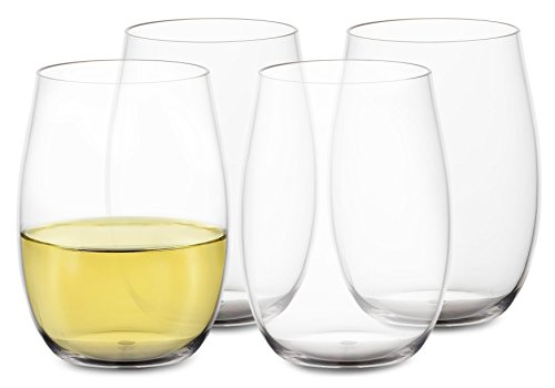 Trinkware Unbreakable Wine Glasses - Plastic Pool Stemless Glasses -outdoor Acrylic Drinkware, Set of 4 | 16 Oz.