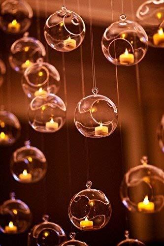 3 Hanging Glass Globe Candle Holder Bulk Sale Pack of 12