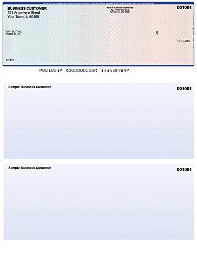 Blue-Red Top Style Computer Checks (250 (250 Checks)