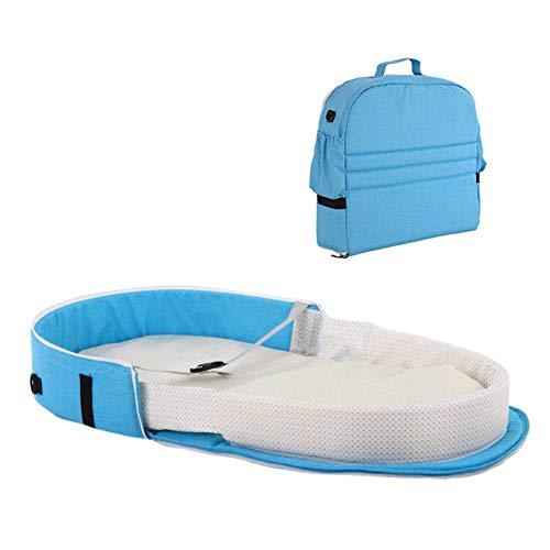 Hankyky Portable Bassinet Bag Travel Bed for Baby | Foldable Baby Bed Travel Indoor Bed Backpack Bed | Breathable Infant Sleeping Basket