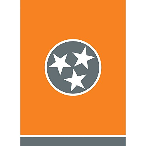 Tennessee Tri Star In Circle Orange 13 x 18 Rectangular Small Garden Flag For Sale