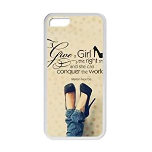 Marilyn Monroe give a girl the right shoes Quote Cell Phone Case for ipod touch 5 ipod touch 5