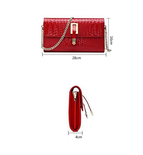 Red Club Party pochette fourre bandoulière chaîne Sacs diagonale en cuir Sac à Mariage à tout à Sacs en pour en Sacs en main bandoulière CwRg1nCqZ