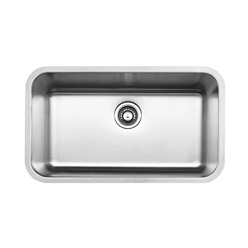 ": Lottare 300103 Stainless Steel Single Bowl 18 Gauge Kitchen Sink Set 30"" x 18"" x 9"""