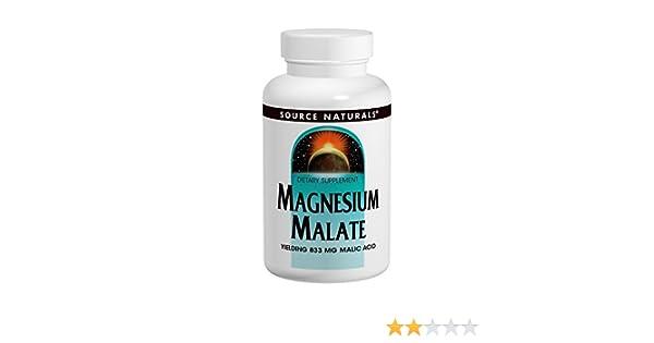 Source Naturals, Magnesio Malato - 1250mg x90tabs: Amazon.es: Salud y cuidado personal