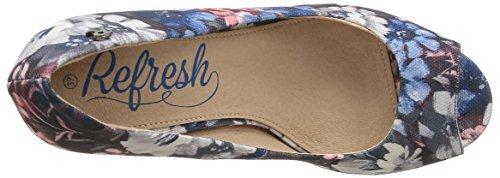 Refresh 61737 - Zapatos de tacón Mujer Multicolor (Blue Jean)