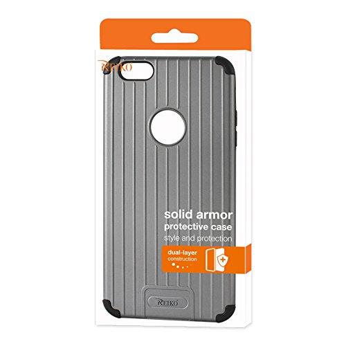 finest selection 1c0a5 2616d Amazon.com: Reiko iPhone 6S Plus/ iPhone 6 Plus Rugged Metal Texture ...
