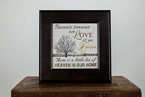 Because Someone You Love is in Heaven Framed Art Decor Tree Glittered 12×12