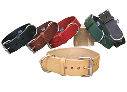 Prime Leather Collars Ideal for Medium and Large Dogs YupCollars Padded Dog Collar in Pink Leather