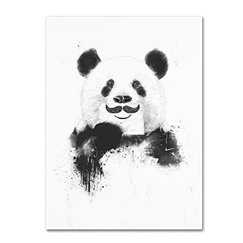 Funny Panda by Balazs Solti, 14x19-Inch Canvas Wall Art from Trademark Fine Art