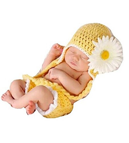Veewon Fashion Baby Infant Newborn Costume Photo Hat Clothes Baby Photograph Props (Sunflower Costumes Infants)