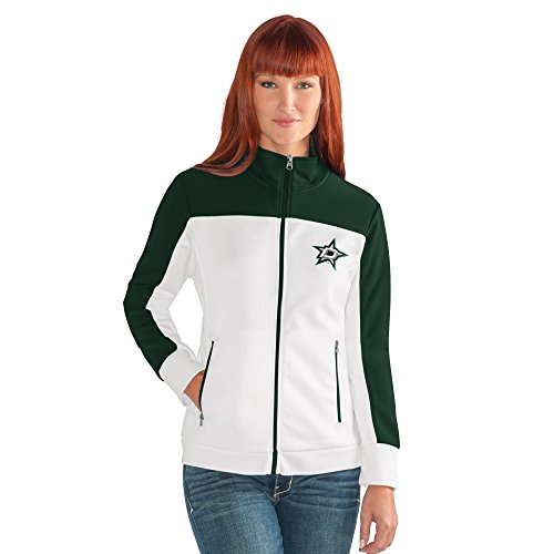 GIII For Her NHL Dallas Stars Women's Play Maker Track Jacket, Large, White