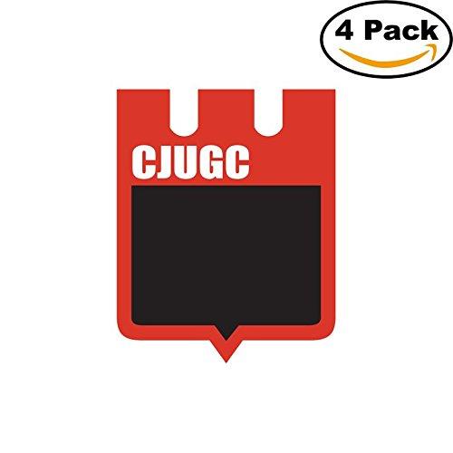 fan products of Club Juventud Unida General Campos de Concordia Argentina Soccer Football Club FC 4 Stickers Car Bumper Window Sticker Decal 4X4