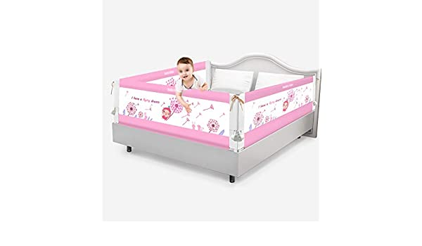 Amazon.com : Foldable Baby Bed Guard Rail Barrier Large Bed Baffle Easy Fit Safety Rail for Toddlers Kids, 3 Sides, 1.5m/1.8m (Color : Dandelion, ...