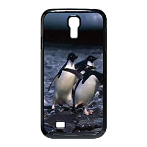 [Penguin Series] Samsung Galaxy S4 Case Penguins 2, Samsung Galaxy S4 Cases for Women Zachcolo - Black