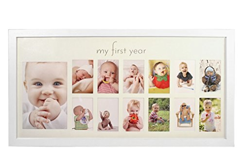 Amazoncom My First Year Baby Photo Frame White Baby