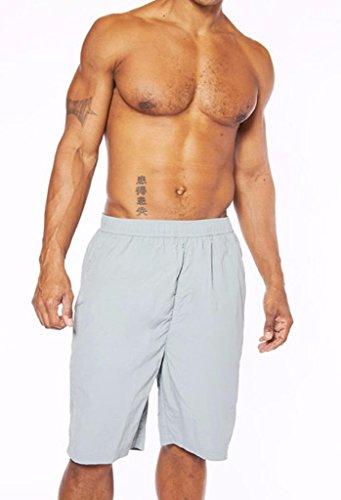 Champion Men's Big and Tall Elastic Waist Solid Swim Trunk, Concrete, 2X ()