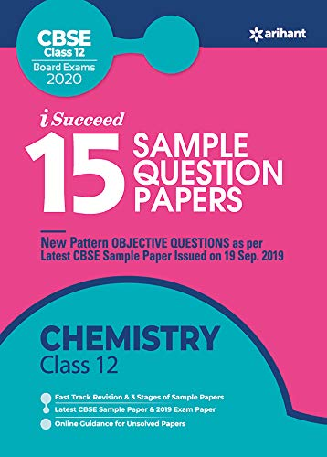 15 Sample Question Papers Chemistry Class 12th CBSE 2019-2020 (9324190210) Amazon Price History, Amazon Price Tracker