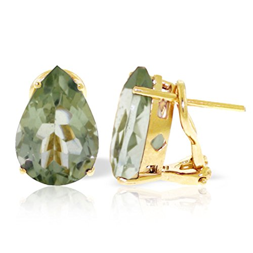 ALARRI 10 Carat 14K Solid Gold Inspiration Green Amethyst Earrings by ALARRI