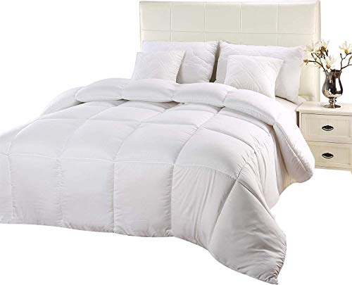 Utopia Bedding Comforter Duvet Insert - Quilted Comforter with Corner Tabs - Hypoallergenic, Box Stitched off numerous Comforter (Twin, White)