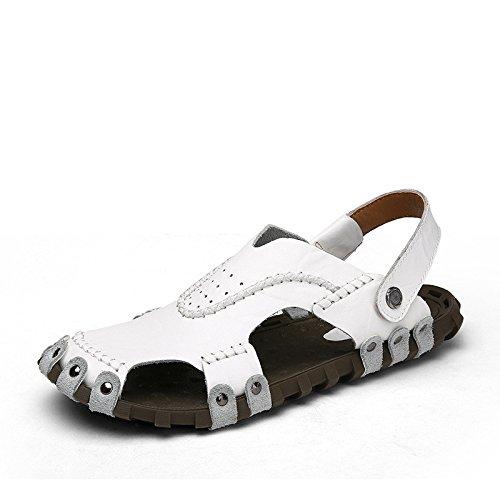 Pantofole da spiaggia uomini di tendenza, uomini bianchi, Regno Unito = 5,5, EU = 38