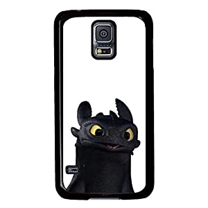 Samsung Galaxy S5 Case, S5 Case - Customized Design Black Hard Case for Samsung Galaxy S5 Toothless How To Train Your Dragon Cartoon Ultra Thin Fit Hard Back Case for Samsung Galaxy S5