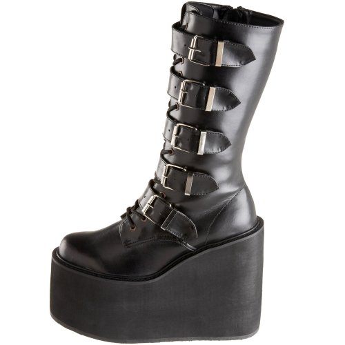 black 220 Demonia Black Da Col Swing Scarpe Donna Tacco RRv8wq