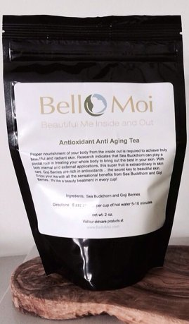 Bello Moi Antioxidant Anti Aging Tea with Sea Buckthorn and Goji Berries Nourish Your Skin From the Inside