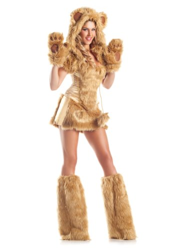 Sexy Bear (Be Wicked Costumes Women's Golden AR Costume, Brown, Small/Medium)