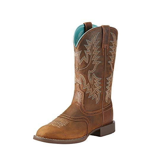 Ariat Women's Heritage Stockman Western Boot, Sassy Brown, 5.5 B US - Heritage Stockman Boots
