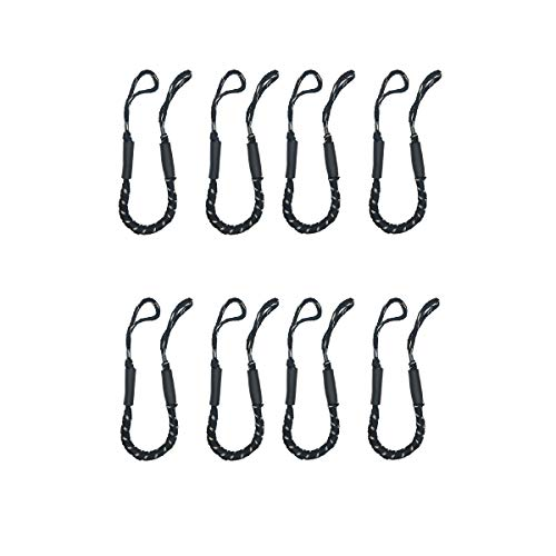 8 Pack of Jranter Bungee Dock Lines-3.5-5.5 ft Boat Ties to Dock Line-Perfect for Boat,PWC,Jet ski,Pontoon,Kayak,Canoe,Power Boat-Black&White