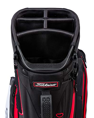 Titleist Hybrid 5 Golf Bag Black / White / Red
