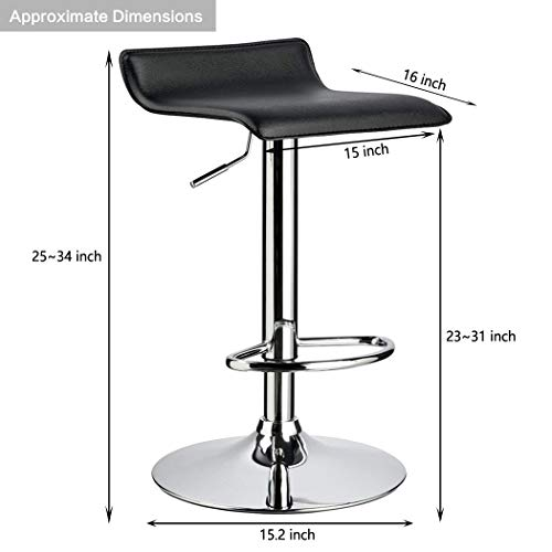 Awesome Duhome 2 Pcs Contemporary Counter Bar Stool Curved Swivel Ocoug Best Dining Table And Chair Ideas Images Ocougorg