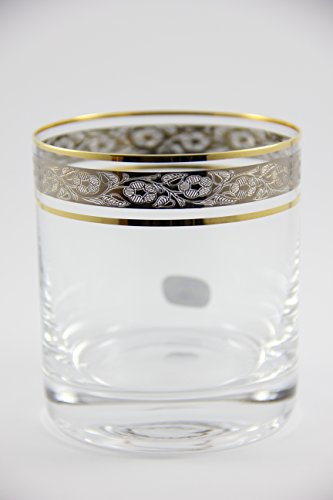 Crystal Whiskey Glasses - Set Of 6 by Bohemia 9.7oz/280ml Czech Exclusive Decor Perfect Whisky Glass or Scotch Glasses Series