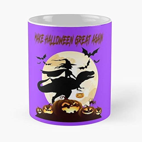 Cute Witch Riding Dinosaur Halloween Shirt New Gifts Idea T Rex Shirts For Men Toddler - 11 Oz Coffee Mugs Ceramic The Best Gift Holidays, Item Use Daily]()
