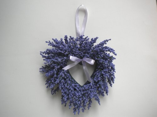 Lavender Heather Heart Wreath (Mini Wreath Heart)