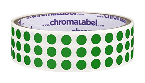 (ChromaLabel 1/4 inch Color-Code Dot Labels | 1,000/Roll (Green))