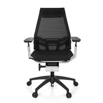 Bürostuhl weiß stoff  hjh OFFICE 652890 Bürostuhl Drehstuhl GENIDIA SMART WHITE CM, Netz ...