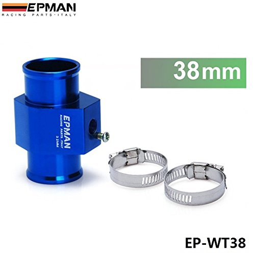 EPMAN 38mm Aluminum Water Temp Gauge Use a Commercial sensor attachment (Blue) RUIAN EP INTERNATIONAL TRADE CO. LTD