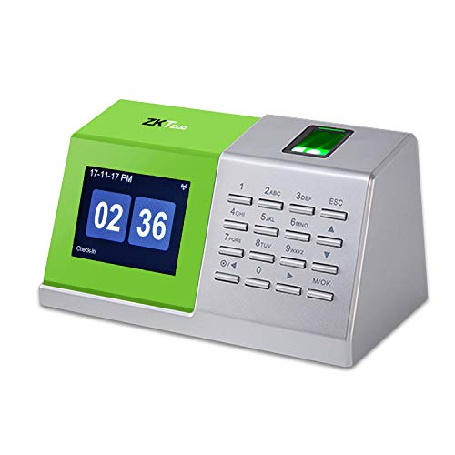 ZKTeco CT20 Fingerprint Time Attendance Machine Biometric Time Clock for Employee Small Business Time-Tracking Recorder Without Installation.