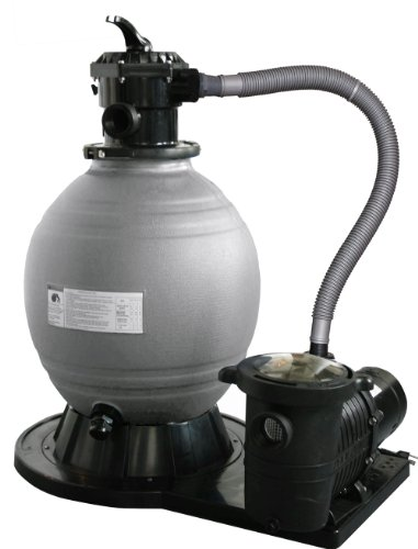 Blue Wave 22-Inch Sand Filter System with 1-1/2 HP Pump for Above Ground Pools (Patio Cristal Para)