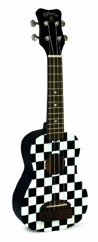 Traditional Checkerboard (Kohala Tiki Ukuleles KT-SCB Ukulele, Checkerboard)