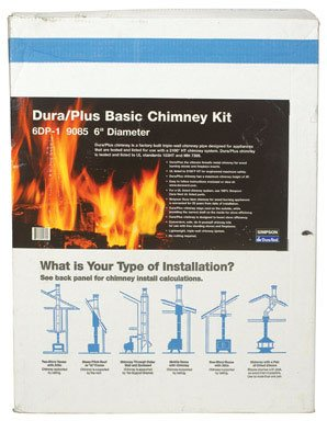 DuraVent DuraPlus Basic Chimney Kit - Vertical Installation (Pipe Kit Stove)