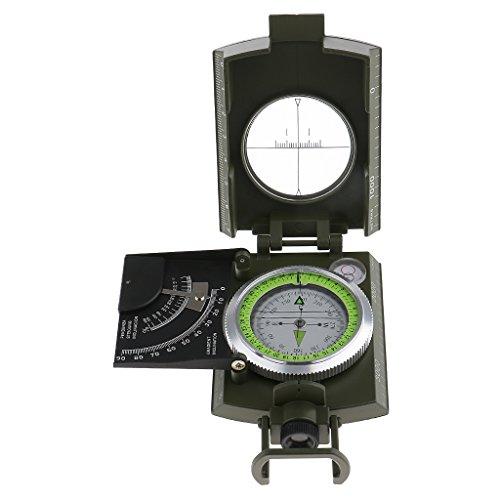 MagiDeal Compás de Geología Luminoso Inclinómetro Supervivencia Orientación Navegación Flecha Norte Camping